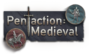 Pentaction: Medieval Logo